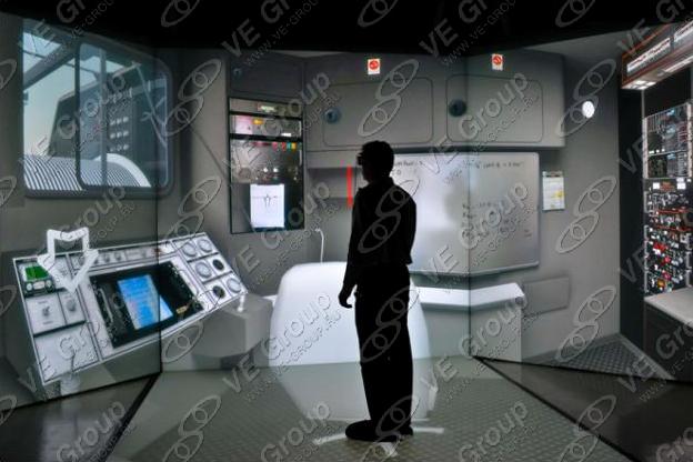 Тренажер атомной станции в комнате виртуальной реальности