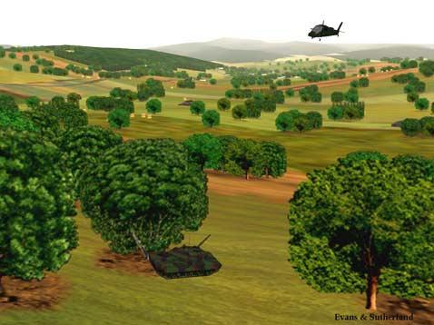 танк за деревом