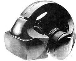 Шлем-дисплей для погружения в виртуальную среду.