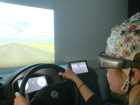 за рулем в виртуальной реальности, ЭЭГ, глазной трекинг