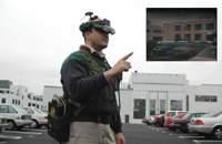 военный в шлеме виртуальной реальности