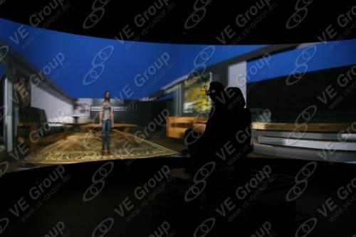 Пилот в кресле виртуальной реальности