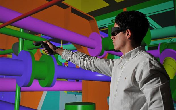 инженер в виртуальной реальности