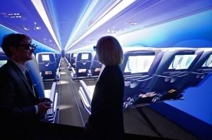 пассажиры самолета в виртуальной реальности